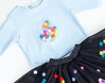 Blue sweater for women,sweatshirt girls,sweater pom pom,sweatshirt kids,sweater cotton,sweater warm,sweatshirt toddler,sweatshirt pom poms