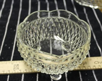 Indiana Glass Diamond Point 5 inch BonBon dish *Shipping Included*