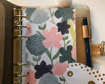 Spring Flowers Planner Insert Dashboard // Pocket, Personal, A5