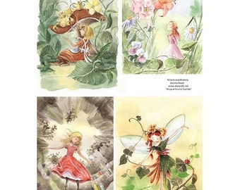 1 sheet of rice paper 21 x 28 cm cutting collage fairy 129