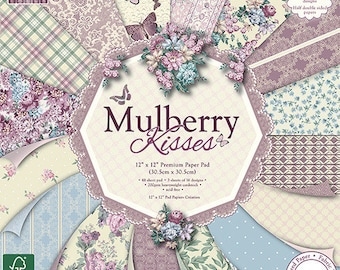 """Lot of 16 papers Fantaisis """"First Edition"""" 30.5 cm MULBERRY KISSES"""