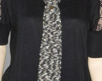 """Hand knit Necktie,Multicolored knit Necktie,Crochet Necktie,Seamless Necktie,Women""""s  Necktie"""