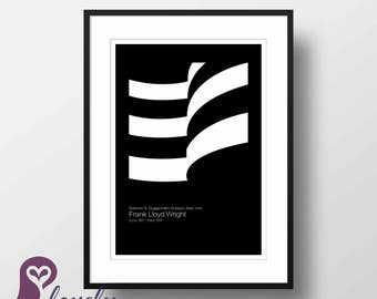 Frank Lloyd Wright Poster Guggenheim Museum Architecture Wall Art Wall Decor