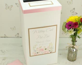 Vintage Flower Wedding Post Box