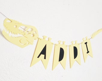 Dino Name Wall Candy Banner