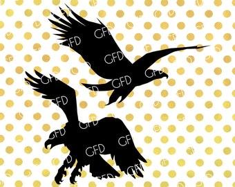 Eagle Silhouette SVG, Eagle SVG, Eagle Clipart, Eagle Digital Cut File, Instant Download, Svg, Dxf, Jpg, Eps, Png