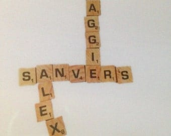 CLEAR Sanvers scrabble pieces sticker