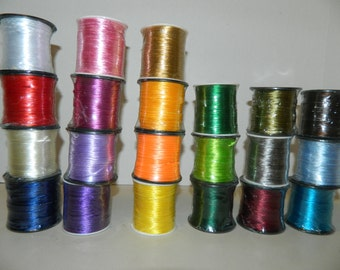 """Round Satin Cord, Round Rattail Cord Ribbon 1/16"""" = 2mm x 50 Yards (CHOOSE COLOR)"""