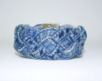 Bracelet braided in Jean Upcycled