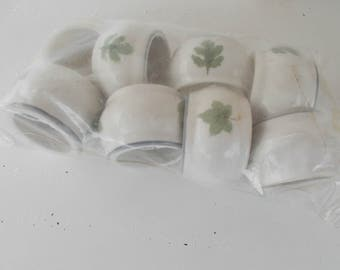 Napkins Rings Ceramic set  of 8