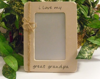 Grandpa photo frame, grandpa gift  Father's day gift,  Grandpa picture frame,  Great Grandpa frame, Grandpa Birthday gift, Gift for Grandpa.