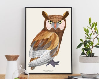 Wise Owl Graphic Print