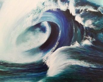 Seascape waves: wave 2, water, oil original painting