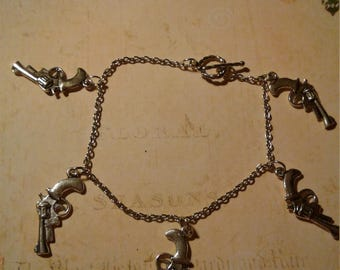 Pistol Charm Bracelet