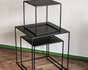 Small Coffee Table _ Table _ Side Table - Bedside table - End table - Bedside Table - Thin4 Cube Series