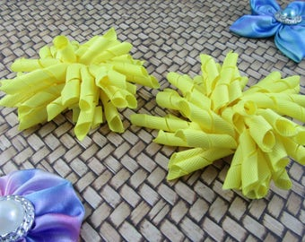 Korker Bow Hair Clip - Set of 2 - Yellows