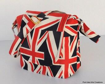 Shoulder bag Union Jack   small messenger bag, school bag, travel bag, holiday bag,shopping bag, evening bag ,holiday gift bag