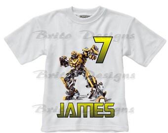 Transformers Birthday shirt, Bumble BeeTransformers Boys Birthday Shirt, Personalized boys Transformer shirt, Transformers