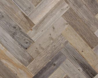 Reclaimed Barn Wood Planks - Herringbone Pattern - 40 Square Feet