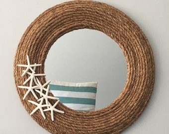 Full Rope Mirror with Starfish- Large