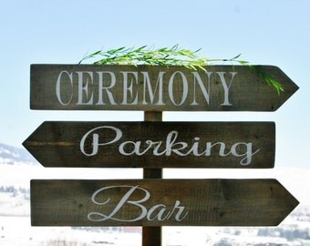 Directional wedding signs, wedding arrow signs, wood directional wedding signs