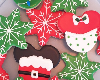 Mickey n' Minnie Mouse Holiday Cookies