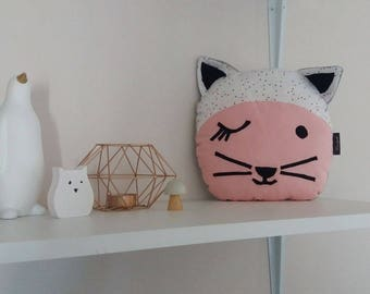 SALE plush cushion cat Coxie-20% with coupon code: SOLDESSUMMER20