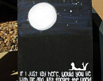 "Snow Patrol - ""Chasing Cars"" Handpainted Quote Canvas"