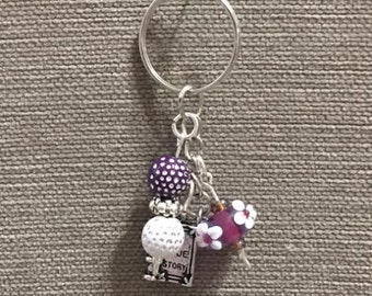 Handmade key chain with charms