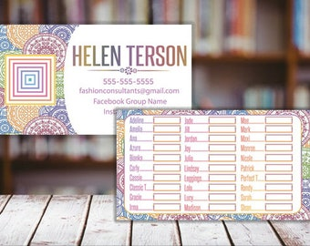 My Size Cards - Business Card - 3.5x2, My size card, Free Personalize, Lula Business Card - Business Card Size