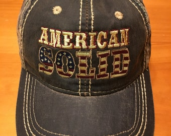 American Soid camouflage hat