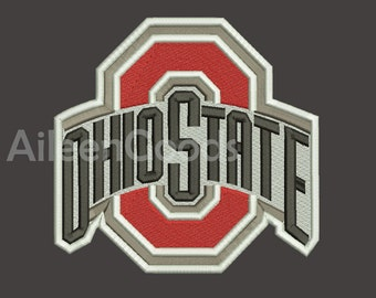 Ohio State Buckeyes Embroidery  design 5 Size  INSTANT download machine embroidery