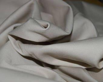"1.66 yards Khaki Stretch Cotton twill fabric 56"" Wide"