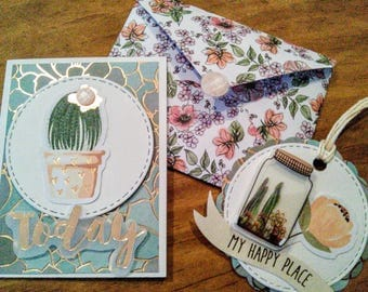 Cute note card and gift tag set