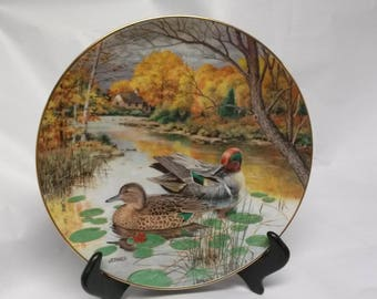 """Collectors Plate """"The Green Winged Teal"""""""