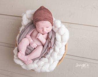 Baby Bonnet Boy, Photography Props, Newborn Photography Prop, hand knit hat, Newborn Photo Prop, Newborn boy, newborn boy photo outfit
