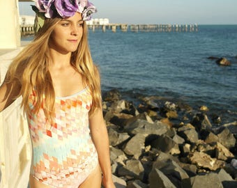 Tropical Sunset Onepiece Swimsuit