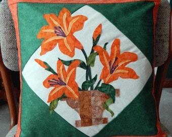 Flower pot pillow