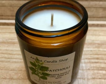8oz PATCHOULI handmade scented soy Aroma candle
