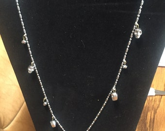 Small ball chain with skull charms