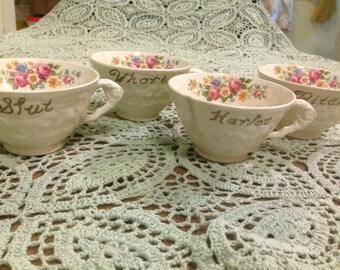 Racy Vintage Teacups
