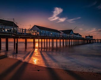 Dawn at Southwold Pier, Suffolk, UK