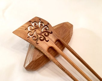 Hand Carved Wooden Hair Comb