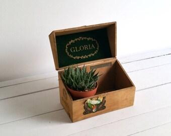 Old wooden cigar box