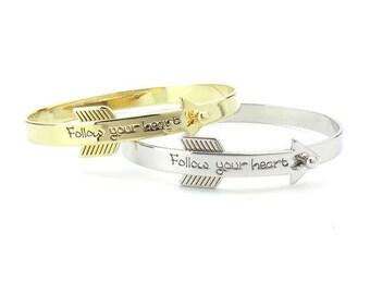 Follow Your Heart Arrow Bracelet