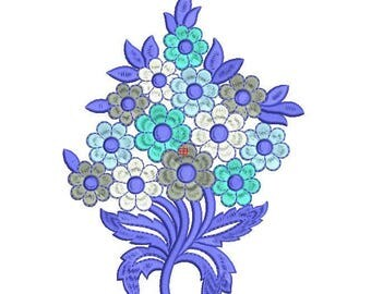 MACHINE EMBROIDERY DESIGN Flower, folk flower,