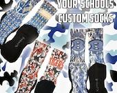 Customized School/Team Socks