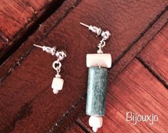Asymmetrical earrings wooden