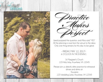 Practice Makes Perfect Rehearsal Dinner Invitation