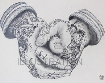 Hands (Print)